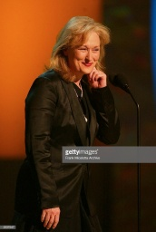 Meryl Streep onstage at the 2002 GQ Men of The Year Awards. The event was held at the Hammerstein Ballroom in New York City. October 16, 2002  Photo by Frank Micelottait: Doug Meszler / WENN