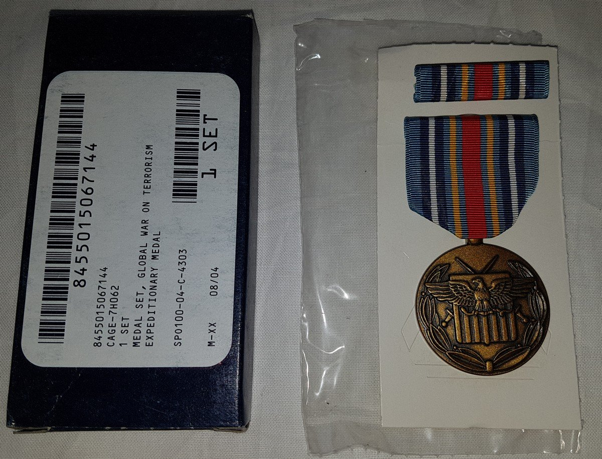 5x Global War on Terrorism Expeditionary Medal = 100Kč/ks